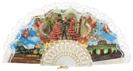 Abanico plástico colección souvenir 260BLA