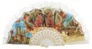 Abanico plástico colección souvenir 261BLA