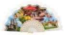 Abanico plástico colección souvenir 275/9BLA