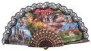 Abanico plástico colección souvenir 275/9NEG