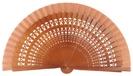 Abanico madera 19cm calado 4013NOG