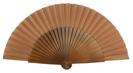 Abanico madera semi-pericón 27cm liso 4144NOG