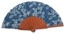 Fantasy pear wooden fan 4559SUR