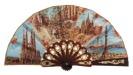 """""""Mini"""" plastic fan for souvenir 458SUR"""