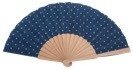 Hand painted birch wood fan 4597SUR