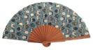Fantasy pear wooden fan 4608SUR