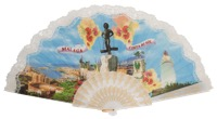 """Semi-pericon"" plastic fan for souvenir 1008/4BLA"