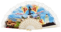Plastic fan souvenir collections 1008BLA