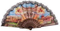 """Semi-pericon"" plastic fan for souvenir 1016/4NEG"