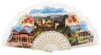 Plastic fan souvenir collections 1017BLA