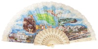 """Semi-pericon"" plastic fan for souvenir 148/4MFL"