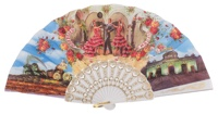 Abanico plástico colección souvenir 260/1BLA