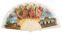 """Semi-pericon"" plastic fan for souvenir 260/4MFL"