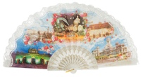 """Semi-pericon"" plastic fan for souvenir 267/4BLA"