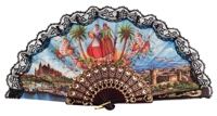 Plastic fan souvenir collections 270NEG