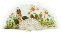 Plastic fan souvenir collections 271BLA