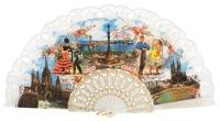 Plastic fan souvenir collections 273BLA