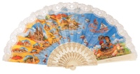 """Semi-pericon"" plastic fan for souvenir 283/4MFL"