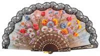 Plastic fan flower collections 286/9NEG
