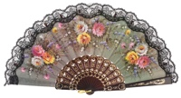 Plastic fan flower collections 291NEG