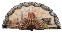 Plastic fan souvenir collections 296NEG