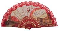 Plastic fan souvenir collections 300ROJ