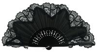 Wooden fan with lace 3039NNN