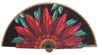 Fantasy pear wooden fan 3047NEG