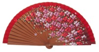 Fantasy pear wooden fan 3101ROJ