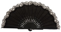 Birch wood fan with lace 3134NEG