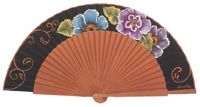 Fantasy pear wooden fan 3143NEG