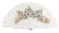 Hand painted birch wood fan 3156BBB