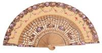 Hand painted oak wood fan 3165AVE