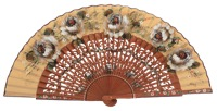 Fantasy pear wooden fan 3200AVE