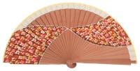 Hand painted fagus wood fan 3208NAT