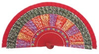 Hand painted fagus wood fan 3210ROJ