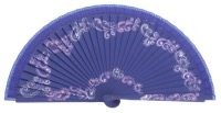Hand painted fagus wood fan 3212VIO