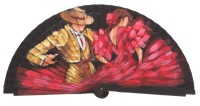 Hand painted fagus wood fan 3244NEG
