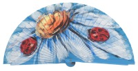 Hand painted fagus wood fan 3247TUR