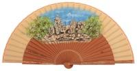 Hand painted fan la cibeles 3262AVE