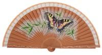 Hand painted fan bird 3266BLA