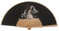 Hand painted fan meninas 3268NEG