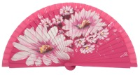 Hand painted fagus wood fan 3297FUC