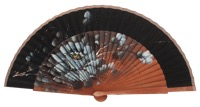 Fantasy pear wooden fan 3302NEG