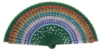 Hand painted birch wood fan 3305VBO