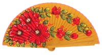 Hand painted fagus wood fan 3313AMA