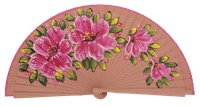 Hand painted fagus wood fan 3314MRR
