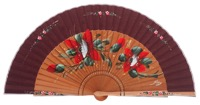 Fantasy pear wooden fan 3320GRA