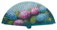 Hand painted fagus wood fan 3326TUR
