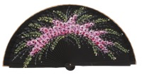 Hand painted fagus wood fan 3337NEG